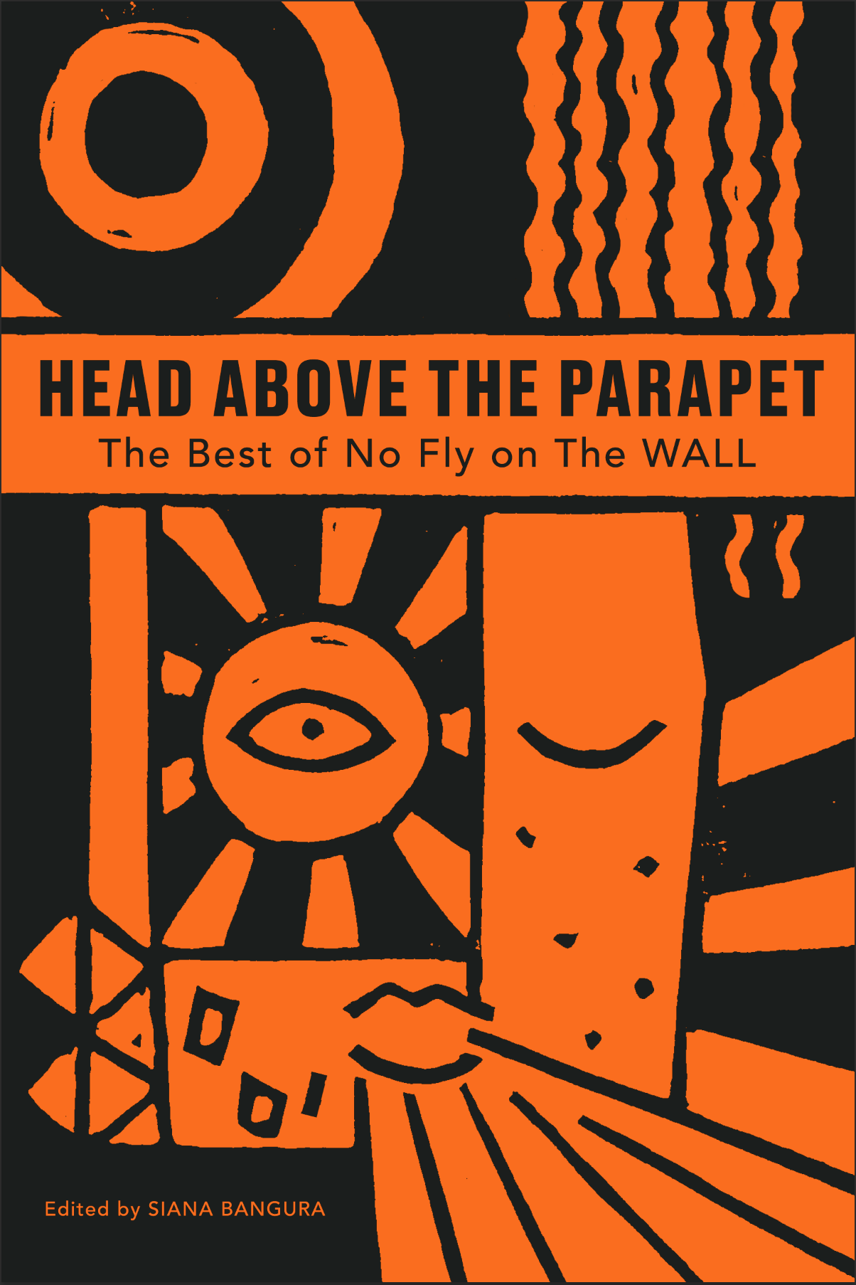 'Head Above the Parapet' Book Cover Design (orange and grey).png